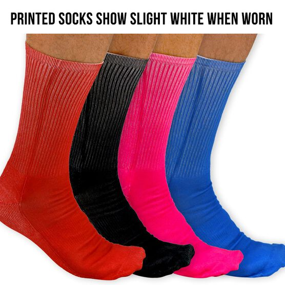 Customized Printed Mid Calf Team Socks Solid