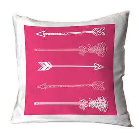 Girls Lacrosse Throw Pillow Lacrosse Arrows