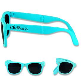 Foldable Lacrosse Sunglasses Chillax'n Girl