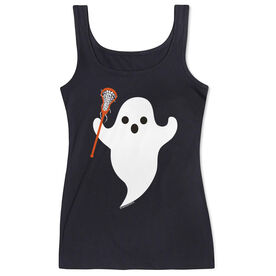 Girls Lacrosse Women's Athletic Tank Top Ghost With Lacrosse Stick