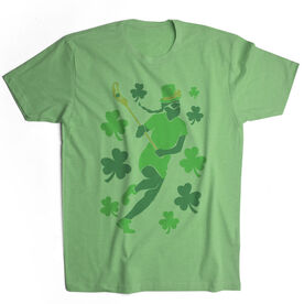 Girls Lacrosse Vintage Lifestyle T-Shirt - Play For St. Patrick's Day