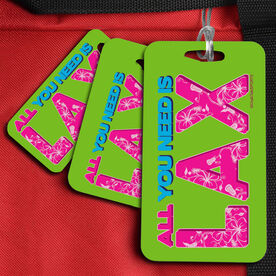 Lacrosse Bag/Luggage Tag All You Need is Lax (White)