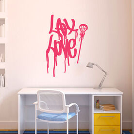 Lax Love Graffiti Removable LulaGraphix Wall Decal