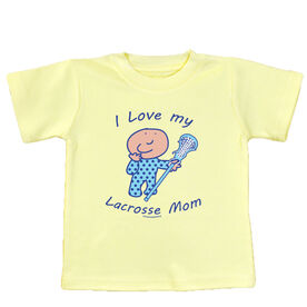 Baby T-shirt I Love My Lacrosse Mom