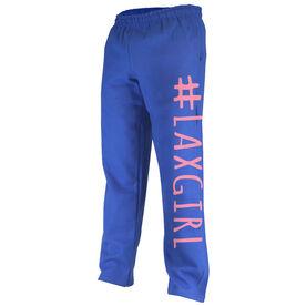 Girls Lacrosse Fleece Sweatpants - #LAXGIRL