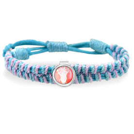 Lacrosse Stick Head Peach Adjustable Woven SportSNAPS Bracelet
