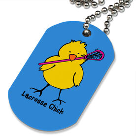 Lacrosse Printed Dog Tag Necklace Lacrosse Chick