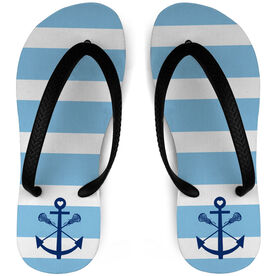 Girls Lacrosse Flip Flops Sticks Anchor