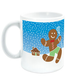 Girls Lacrosse Ceramic Mug Lax Gingerbread Man