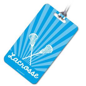 Lacrosse Bag/Luggage Tag Lacrosse Rays Crossed Lacrosse Sticks