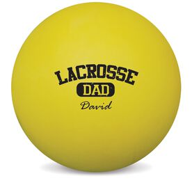 Personalized Lacrosse Dad (Block Logo) LAX Ball (Yellow Ball)