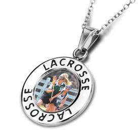 Lacrosse Circle Necklace Your Photo