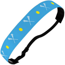 Girls Lacrosse Julibands No-Slip Headbands - Crossed Lacrosse Sticks