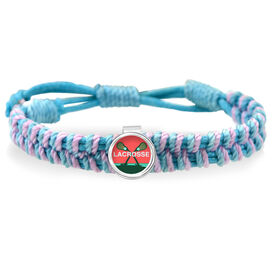 Lacrosse Palm Trees Adjustable Woven SportSNAPS Bracelet