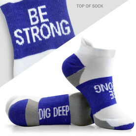 Socrates™ Woven Performance Sock Be Strong (Royal)
