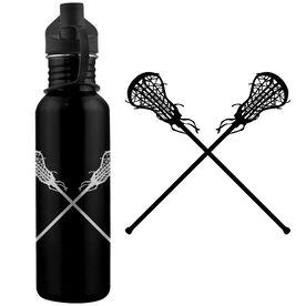 Lacrosse Sticks (F) 24 oz Stainless Steel Water Bottle