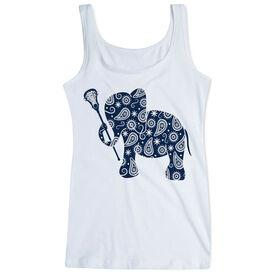Girls Lacrosse Women's Athletic Tank Top Lax Elephant