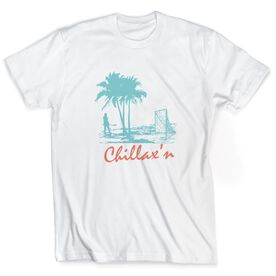 Girls Lacrosse T-Shirt Short Sleeve Chillax'n Beach Girl