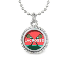Lacrosse Palm Trees SportSNAPS Necklace
