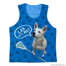 Girls Lacrosse Racerback Pinnie Lax With Me