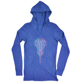 Girls Lacrosse Lightweight Performance Hoodie Lacrosse Stick Heart