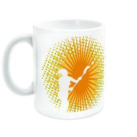 Girls Lacrosse Ceramic Mug Sunburst