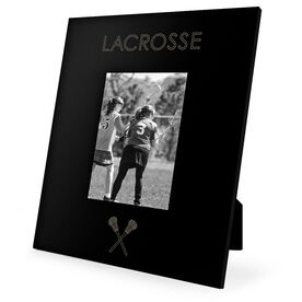 Girls Lacrosse Engraved Picture Frame - Simple Lacrosse
