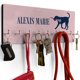 Girls Lacrosse Hook Board Lula the Lax Dog with Your Name