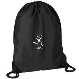 """Lax"" Girl (Stick Figure-w/word) Sport Pack Cinch Sack"