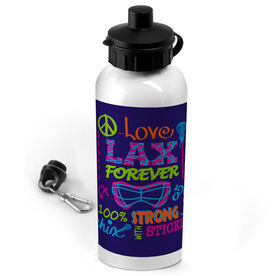 Lacrosse 20 oz. Stainless Steel Water Bottle Peace Love Lacrosse Forever