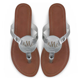 Engraved Thong Sandal Curly Monogram
