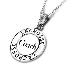 Lacrosse Circle Necklace Coach