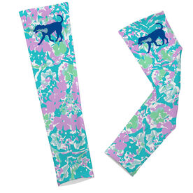 Girls Lacrosse Printed Arm Sleeves LuLa the Lax Dog