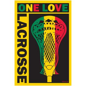 One Love Lacrosse Rectangle Car Magnet