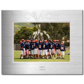 Silver Engraved Lacrosse Coach Frame 5 x 7
