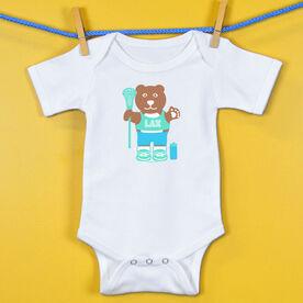 Baby One-Piece Lacrosse Bear