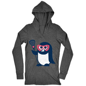 Girls Lacrosse Lightweight Performance Hoodie Penguin