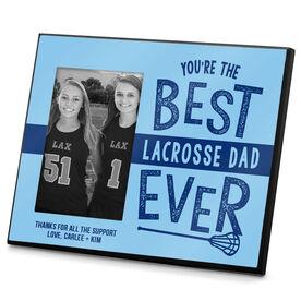 Girls Lacrosse Photo Frame Girls Best Lacrosse Dad Ever