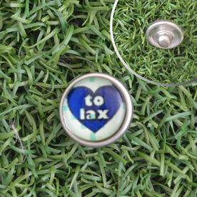 Heart To Lax SportSNAPS Charm