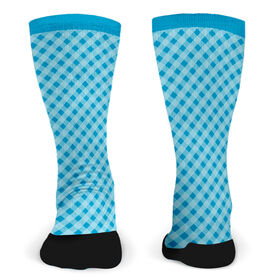 Customized Printed Mid Calf Team Socks Gingham Team