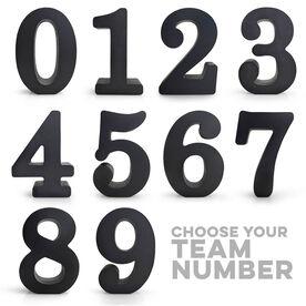 Team Numbers Wood Words