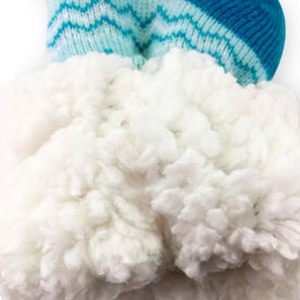 Lacrosse Slipper Socks with Sherpa Lining (Blue)
