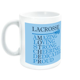 Girls Lacrosse Ceramic Mug - Mother Words