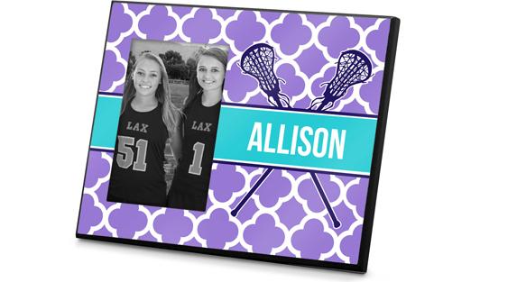 Girls Lacrosse Printed Frames