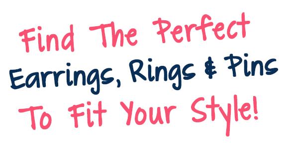 Girls Lacrosse Earrings, Rings, and Pins