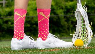 Woven Mid-Calf Socks