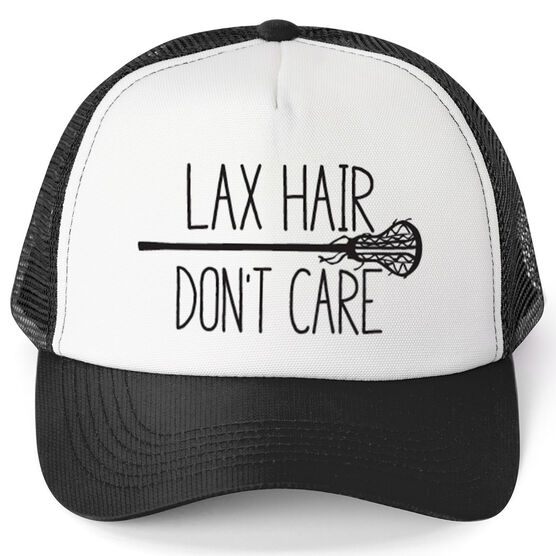 Girls Lacrosse Trucker Hat Lax Hair Don't Care
