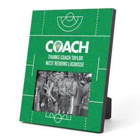 Girls Lacrosse Photo Frame - Coach (Field)