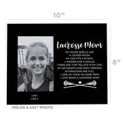 Girls Lacrosse Photo Frame - Lacrosse Mom Poem