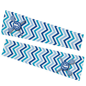 Girls Lacrosse Printed Arm Sleeves - Monogram with Lacrosse Sticks and Chevron